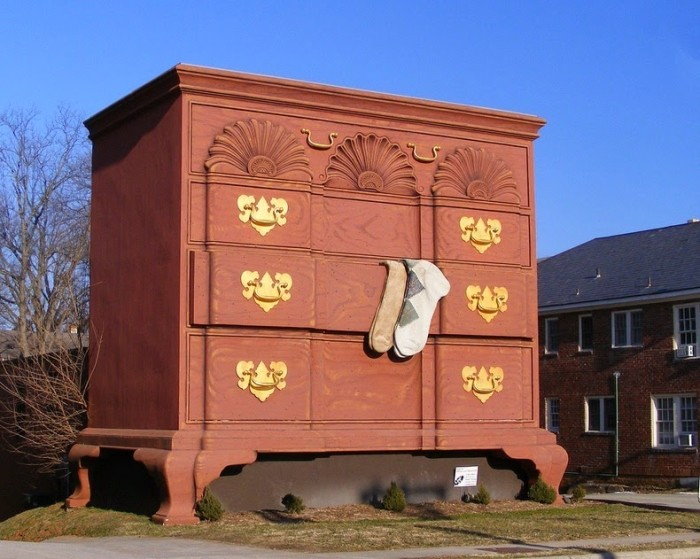 3. The giant chest of drawers.