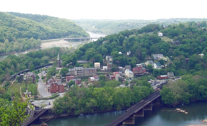 9. Historical sites, like Harpers Ferry, to learn about.