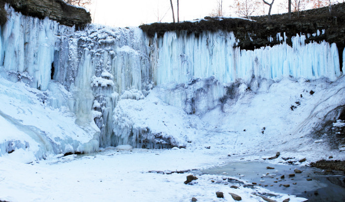 1. See Minnehaha Falls while it's frozen!