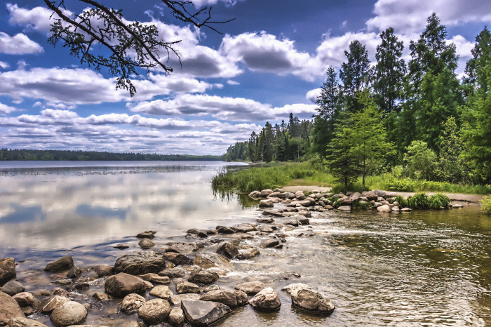 17. Walk across the source of Mississippi River at Itasca State Park.