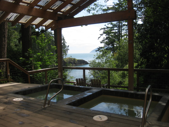 8. Take a dip in a hot springs, like the Doe Bay Resort on Orcas Island.