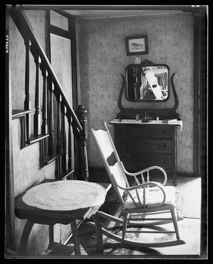 11. This was the interior of an unemployed man's house in Morgantown.