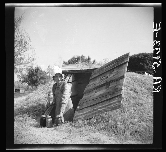 4. Many wives of rehabilitation clients found great joy in canning and pickling vegetables to add to their family's food supply in preparation for a possible shortage. (Kaufman County)