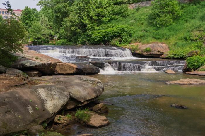 10. Lower Falls - Falls Park on the Reedy - Greenville, SC