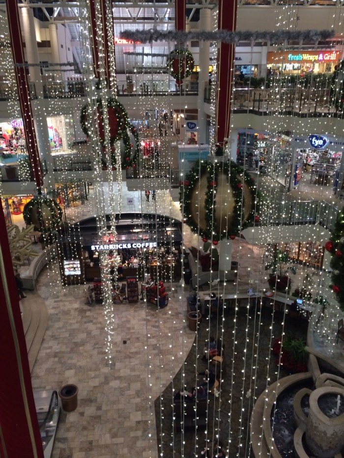 5. Even the shopping malls are festive.