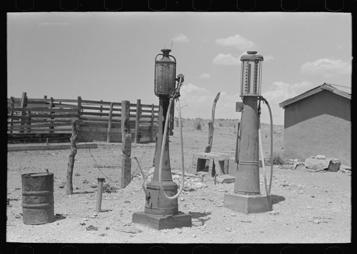 5. If not for the picture's description, I wouldn't have recognized these as gasoline pumps. (Marfa)