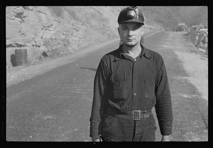5. Here's a portrait of a miner in Freeze Fork in October 1935.