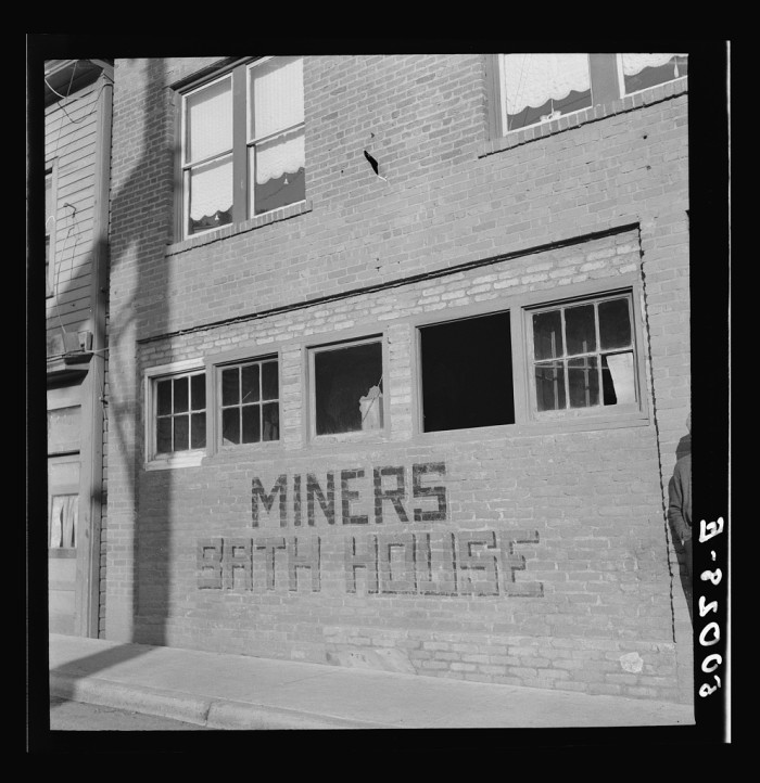 2. This was a miners' bath house in Welch 1938. Public bath houses were an essential part of life in a coal camp. They allowed miners to clean up before going home so they wouldn't return sweaty and track coal dust into their homes.