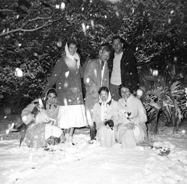 FSU students in the snow