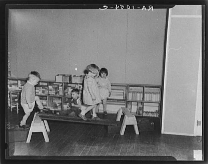 5. Here are some small children playing at a nursery school in Reedsville.
