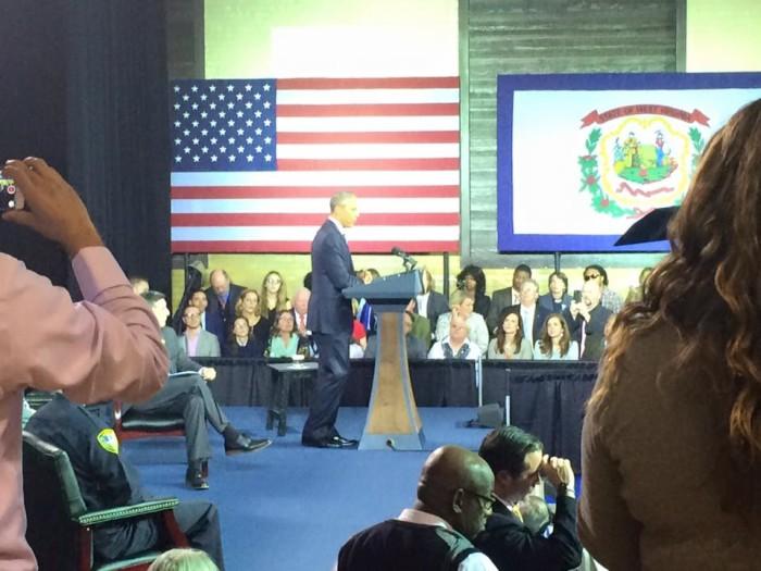 9. President Obama came to Charleston.