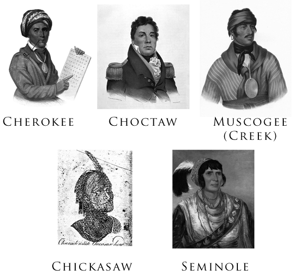 6. There were originally Six Civilized Tribes, not five.
