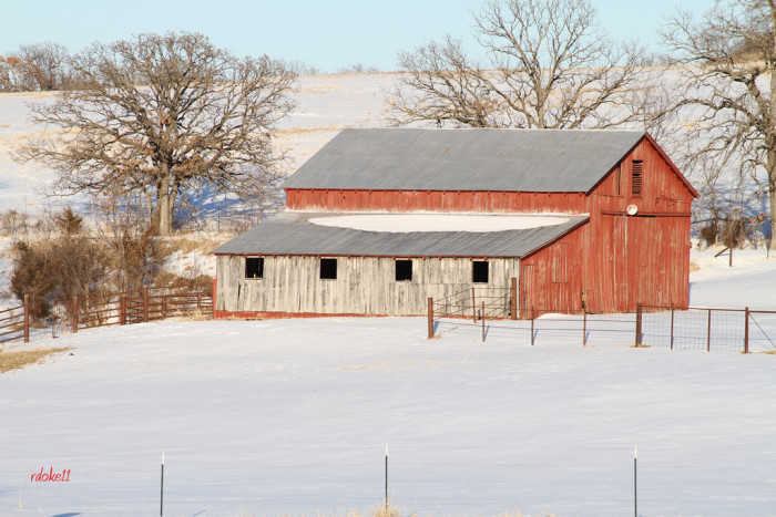 9. Snow brings new life to an old barn.