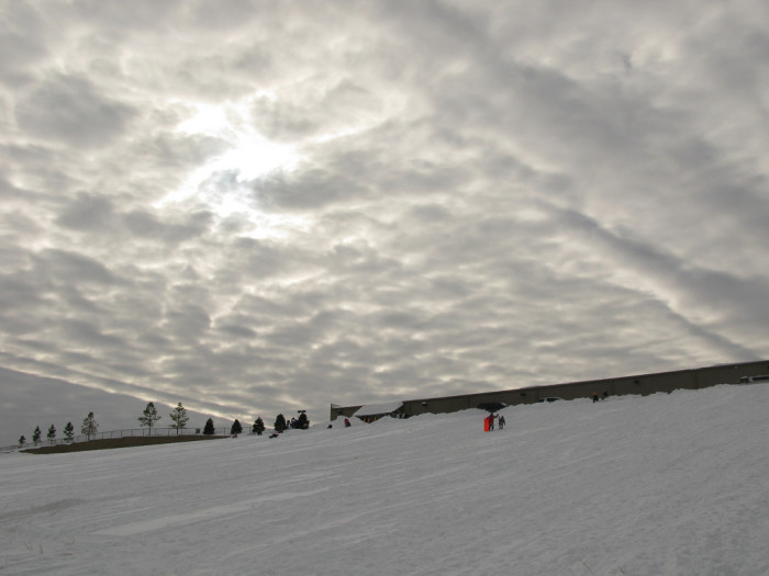 7. A hill with plenty of snow in Oklahoma is a playground for any age.