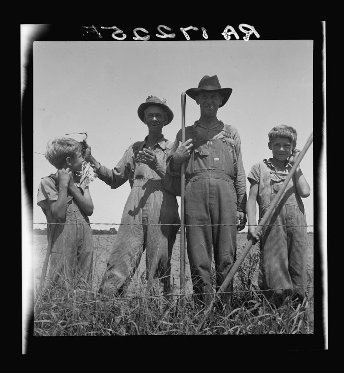 1. These cotton farmers were day laborers and worked near Oil City in 1937.