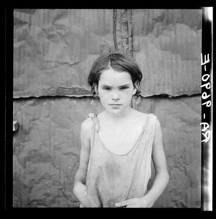 2. This young girl lived in an Oklahoma shacktown in 1936.