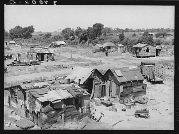 24.This scene is part of a Mays Avenue 1939 shacktown camp in Oklahoma City.