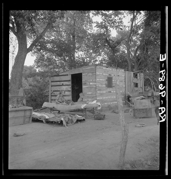 8. These people are living in miserable poverty in Elm Grove, Oklahoma County in 1936.