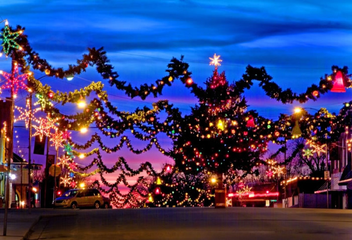 3. Our towns go all out for the holiday season.