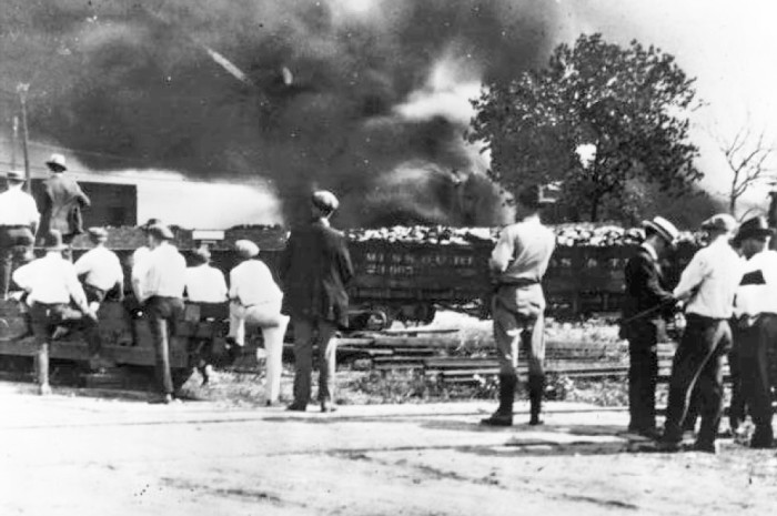 6. One of the worst race riots in the nation's history occurred in Tulsa over a 14-hour period on May 31- June 1, 1921. Dozens of people were killed, hundreds were injured and thousands were left homeless. Most of the segregated black district, known as Greenwood, was destroyed.