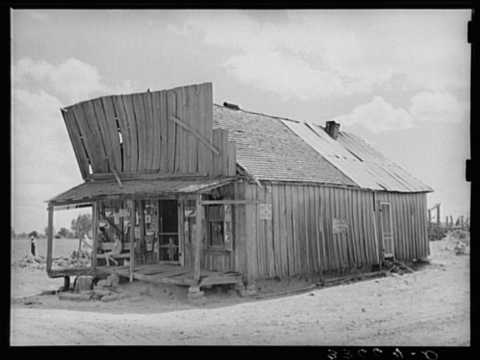 "15. ""Old grocery store serving an agricultural community in the Arkansas River bottoms near Vian, Oklahoma."""