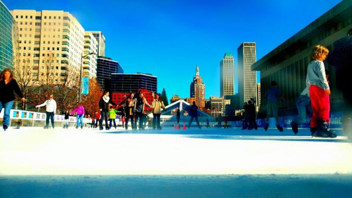 8. Enjoy outdoor ice skating and a cup of hot cocoa at Tulsa's Winterfest.