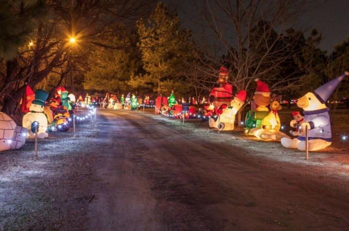 10. Walk around the Castle of Muskogee Christmas Celebration.