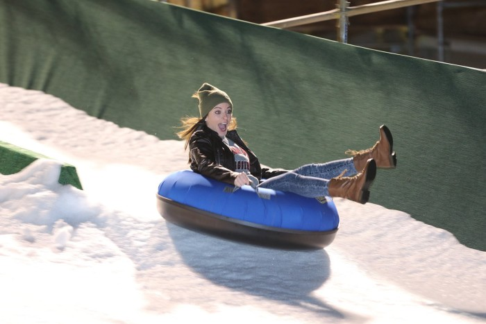 3. But don't forget to catch a ride snow tubing at the Chickasaw Bricktown Ballpark.
