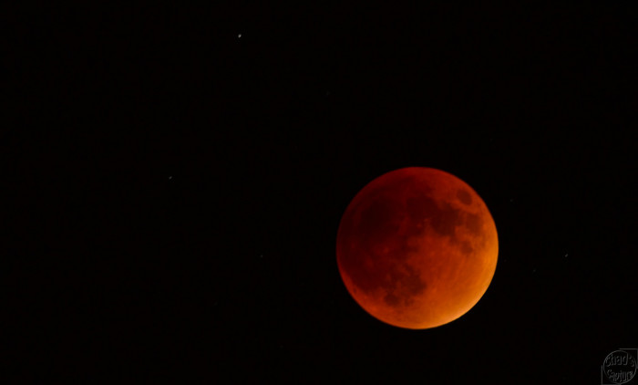 4. We got to view the rare, supermoon eclipse.