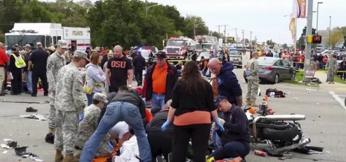 3. Then there was that horrific day in October when a car rammed into pedestrians at the OSU homecoming parade in Stillwater.