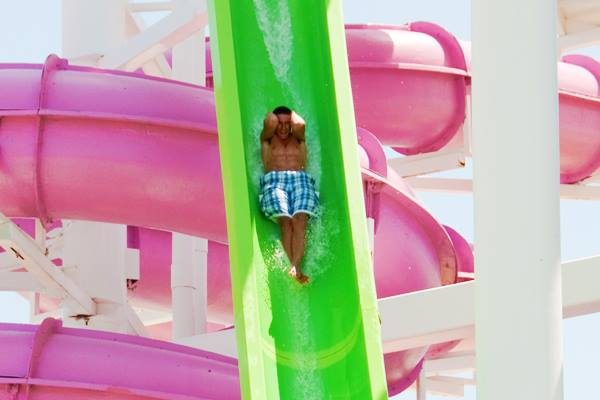 5. Take a ride down an exhilarating water slide at White Water Bay.