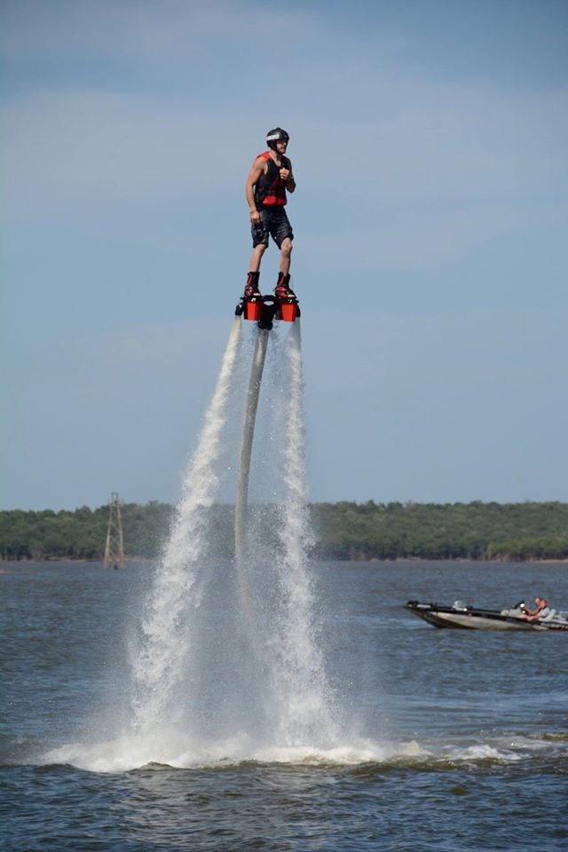 15. Try out the exteme sport, flyboarding, at Keystone Lake.