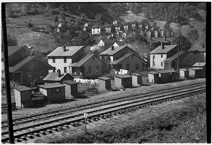 11. This picture shows company houses in Omar, West Virginia in October 1935.