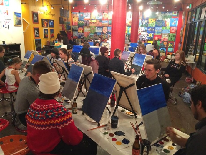 15. Paint at a party with your friends.