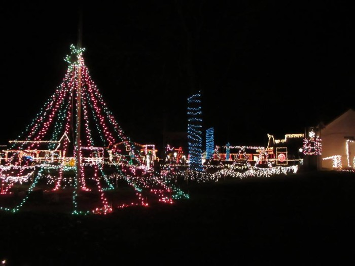 2. The Christmas Light Display and Drive Thru at the West Virginia State Farm Museum in Point Pleasant