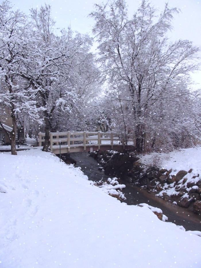 12. It's quieter when it snows.