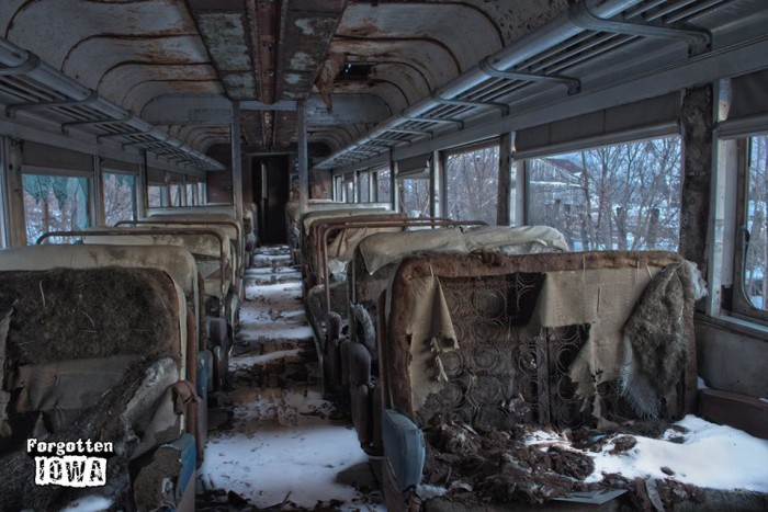 8. Train car interior, Boone