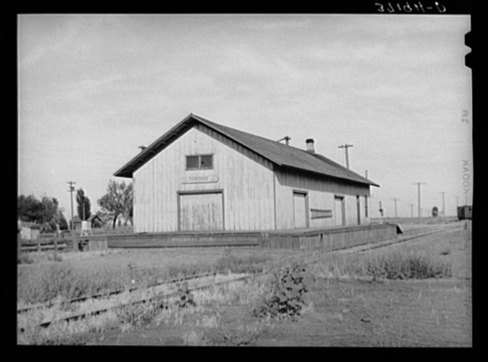 16. Railroad Station, Corinne