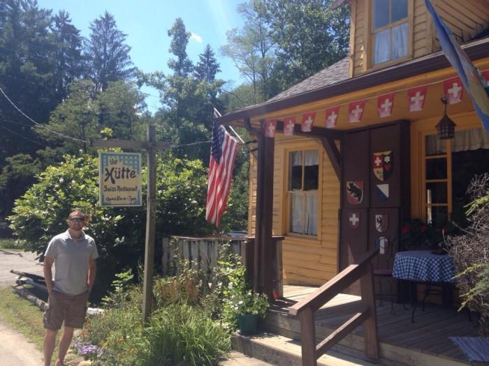 15. Neat restaurants -- like Swiss restaurant Hutte in Helvetia.