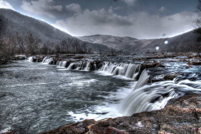 2. This shot of the mighty Sandstone Falls on the New River near Hinton.