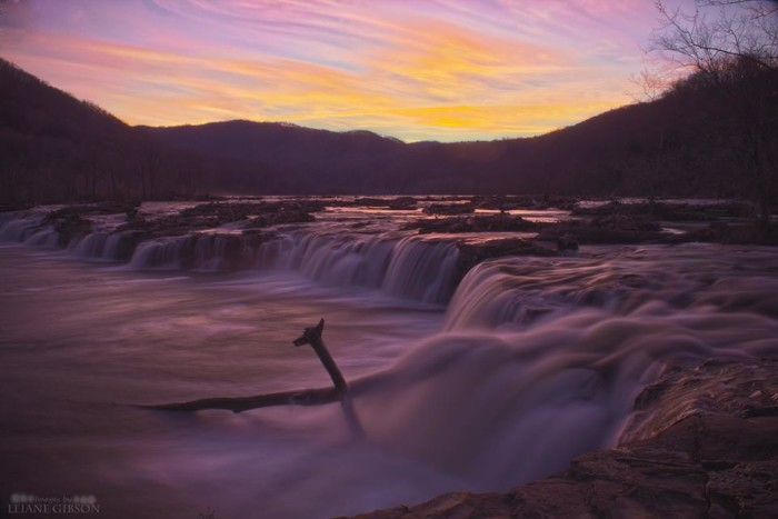 19. This gorgeous sunset at Sandstone Falls in Summers County