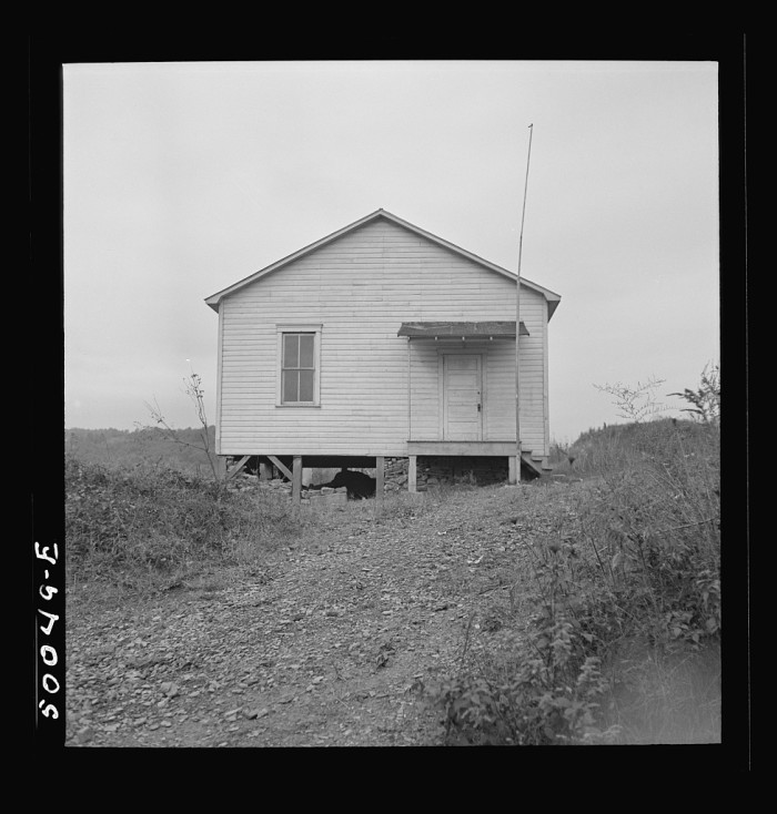 4. This was a school for black children in Scotts Run, 1938.