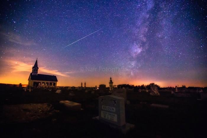 11. Nair Sankar was able to photograph a rare shooting star for us. Great work, Nair!