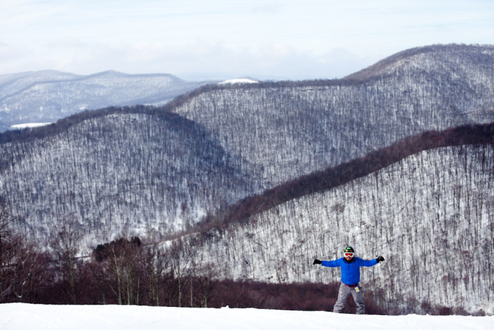 6. This picture of a skier's paradise at Snowshoe Mountain resort.