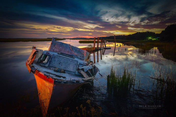 "5. St. Helena Island in South Carolina is stunning! Delk Haigler Photography titles this photo ""Beautiful and Broken."""