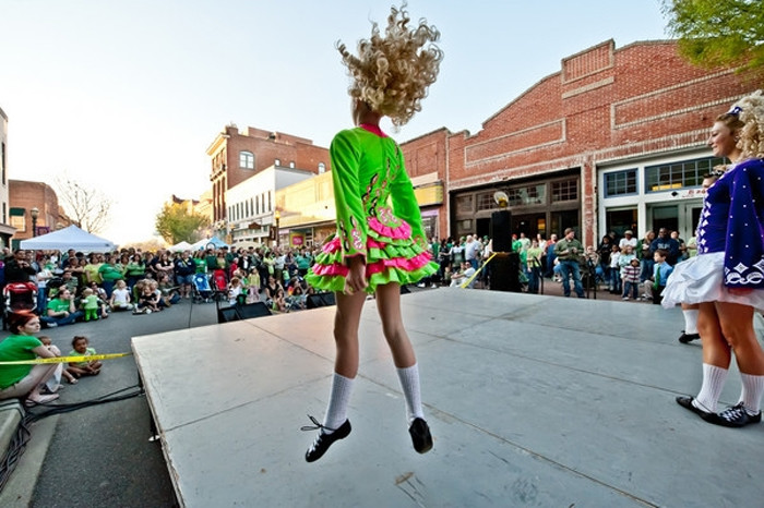 """7. Dance an Irish Jig at the annual """"St. Patricks Day on Main"""" event in Rock Hill."""