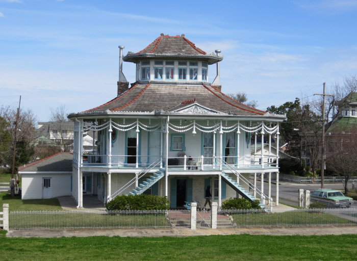 13, This home is known as the Steamboat house.