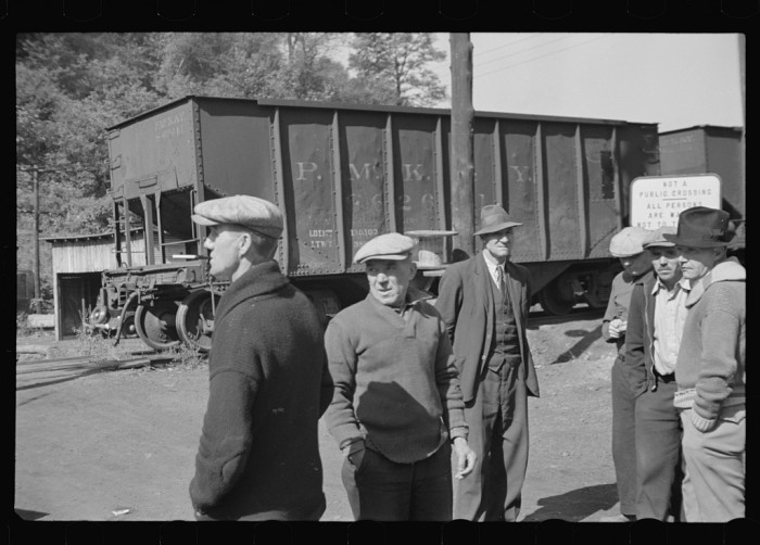 6. This is a picture of miners on strike in the Scotts Run area near Morgantown in 1935.