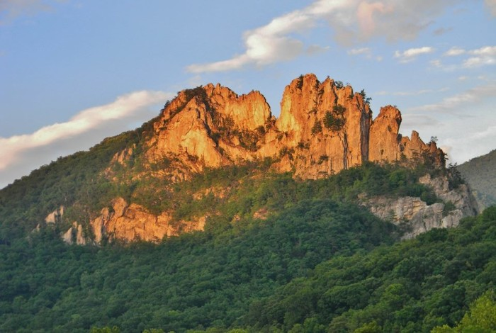 6. This gorgeous shot of the sun shining on Seneca Rocks