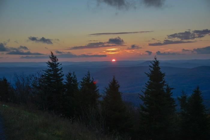 5. This sunset taken at Spruce Knob
